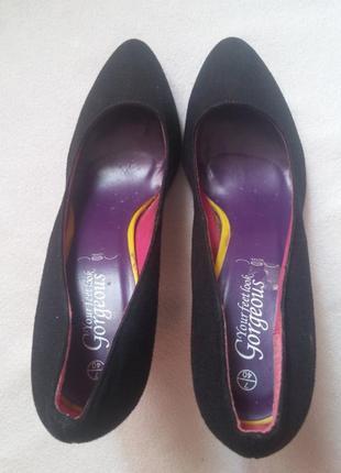"""Замшевые туфли """"new look"""" c фиолетовой стелькой, размер 39"""