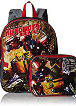 Рюкзак - ранец   в комплекте с ланчбоксом трансформеры   transformers