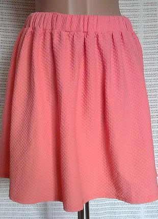 Фактурна персикова юбка сонце