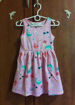 Платье на 2-4,6-8 лет h&m