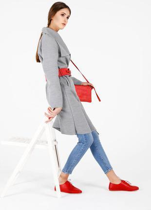 Трендовое пальто халат с карманами