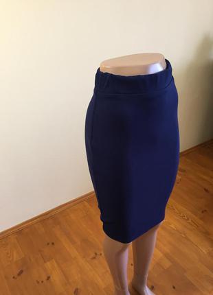 !<>синяя юпка<>! миди !<>очень красивая !<>! ткань джерси<>!