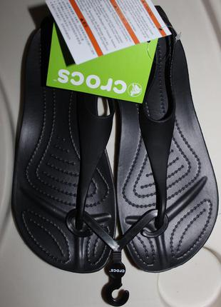 Распаровка, оригинальные женские босоножки крокс crocs sexi flip, размер 38