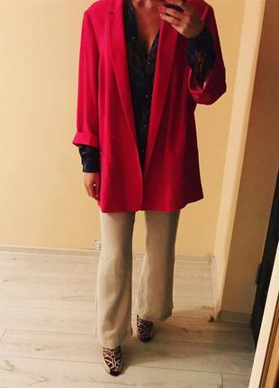 Яркий пиджак накидка оверсайз marks&spencer