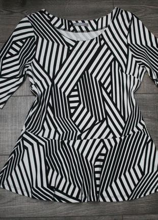 Стильная кофточка-блуза с баской - m/l