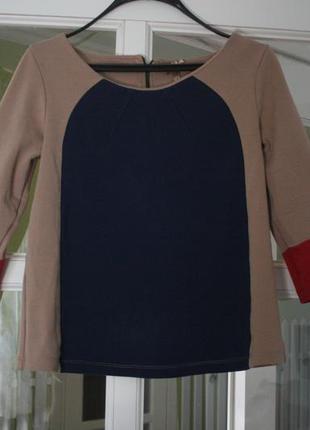 Стильный свитшот-блуза color block - m