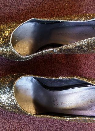 Вечерние туфли золото