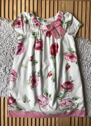 Красивое платье в цветы hello kitty