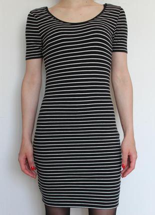 New look платье в полоску по фигуре в обтяжку