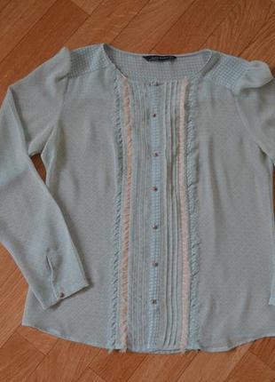 Нежная блуза в принт zara