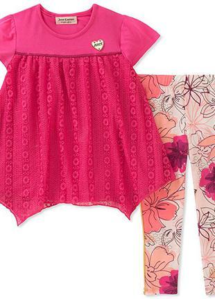 Костюм 2-ка платье туника и- лосины леггинсы на девочку 12 месяцев 1 год juicy couture