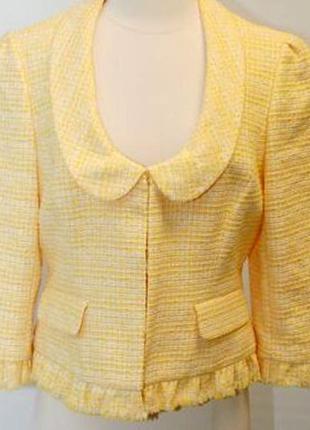 Трендовый  пиджак их твида ann taylor, оригинал, номерной