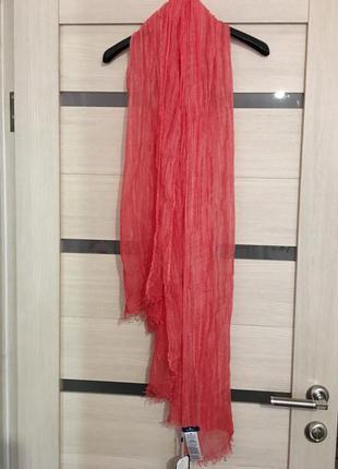 Красивый легкий летний шарф палантин tom tailor