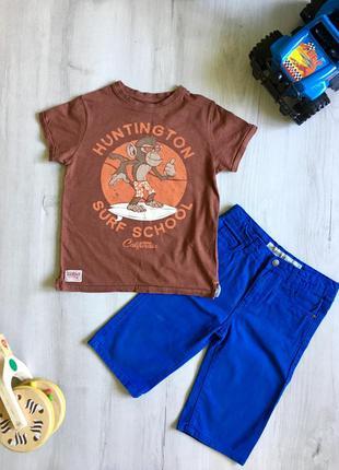 Набор на 7-8 лет, футболка, майка, шорты, next, denim co.