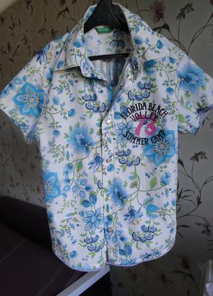 Фирменная рубашка на мальчика 4-5 лет