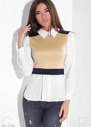 Модная стрейчевая блуза