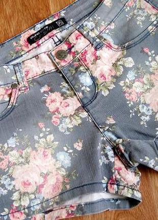 Sale! обалденые шорты шортики с эффектом потертости casual размер xs