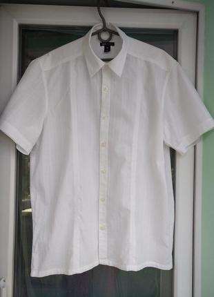 "Шведка ""h&m"" р.m мужская летняя рубашка х/б"