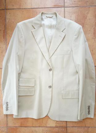 Классический светлый летний мужской костюм, р.50