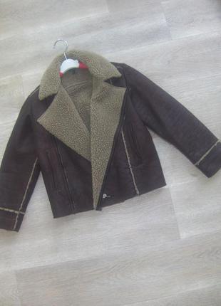 Демисезонная дубленка, куртка