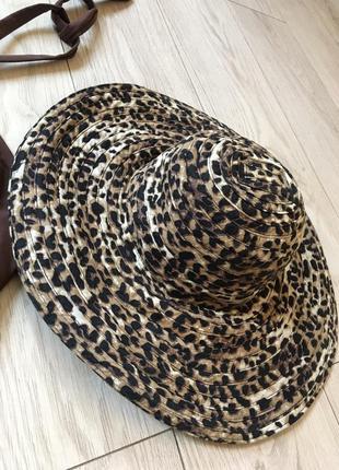 Шляпа фирменная хлопок пляжная леопардовая