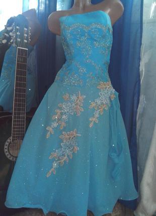 Вечернее выпускное бальное платье