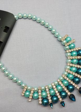 """Колье,ожерелье """"голубая лагуна"""""""