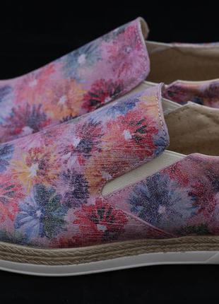 Слипоны туфли на платформе rinascimento