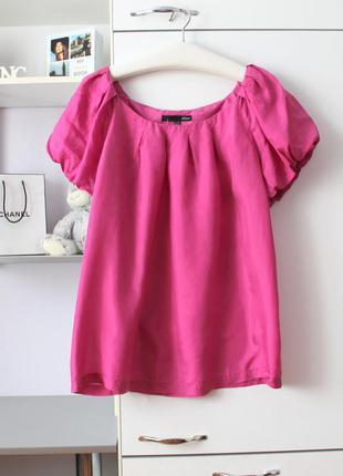 Шелковая розовая блуза от дорогого бренда etam