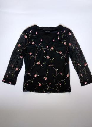 Блуза сетка с вышивкой zara
