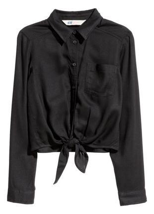 Укорочённая рубашка топ h&m p.xs-s