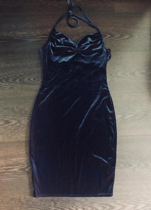 Короткое бархатное платье miss selfidge