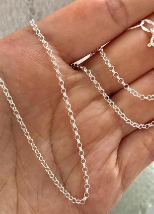 Цепь серебряная 50 см цепочка 901251025