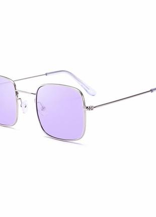 Очки стильные фиолетовые лавандовые квадратные 2018