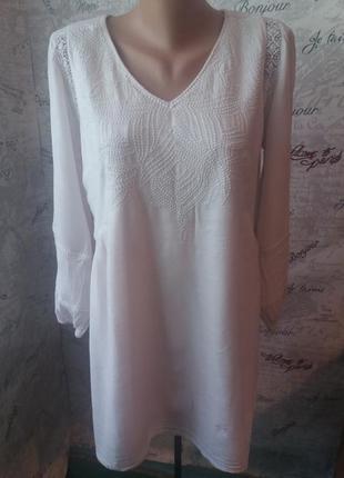 Вышиванка блуза из хлопка (50 размер)