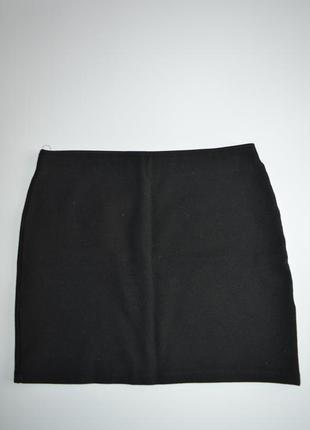 Базовая черная мини юбка bershka