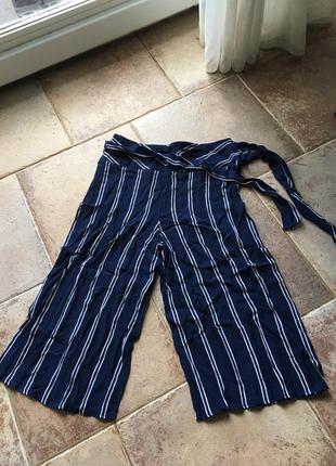 Штаны в полоску брюки с лампасами