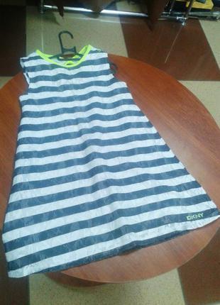 Платье сарафан для девочки в полоску