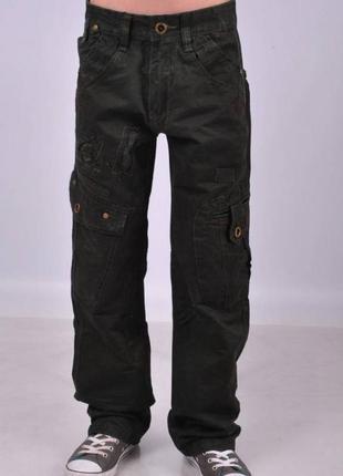 Детские джинсы, брюки, штаны для мальчиков 13-14 лет