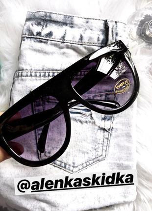 Чёрная оправа стильные очки уф400