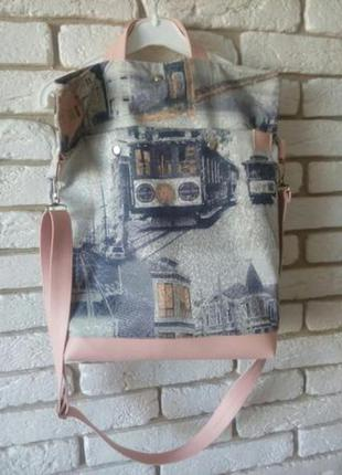 """Удобная и вместительная сумка-торба """"сан франциско """",для лета"""