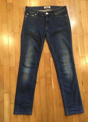 Оригинал джинсы acne голубые синие с потёртостями