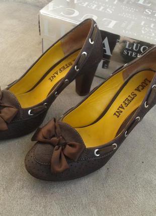 Брендові туфлі жіночі мешти luca stefani 37 [італія] 24,5 см (туфли женские кожаные)