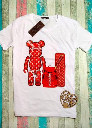 Женская хлопковая модная футболка supreme суприм