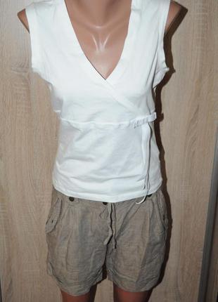 Белая майка, блуза