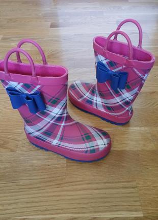 Модные резиновые резинові гумові сапоги чоботи george, 27 р, 17,5см