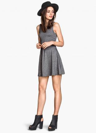 Стильное серое платье h&m