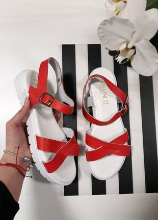 Кожаные сандали bellini 39р