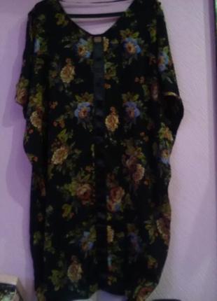Летнее платье в цветочний принт фирми limited королевского размера