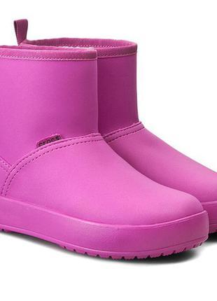 Полусапожки крокс  crocs colorlite boot, us 5, евро 34-35